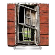 Broken Window Frame Shower Curtain