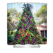 Bromeliad Christmas Tree At Pinewood Estate, Bok Tower Shower Curtain