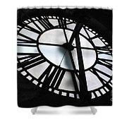 Bromo Seltzer Clock Shower Curtain