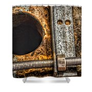 Bromo Seltzer Tower's 1911 Seth Thomas Clock Mechanism Abstract #11 Shower Curtain