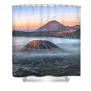 bromo tengger semeru national park - Java Shower Curtain