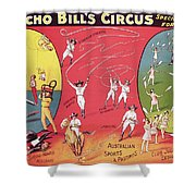 Bronco Bills Circus Shower Curtain by English School