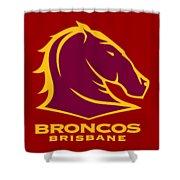 Broncos Brisbane Shower Curtain