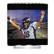 Broncos Win Super Bowl Fifty Shower Curtain