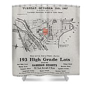 Bronx 1907 Realtor Flyer Shower Curtain