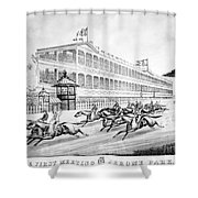 Bronx: Horse Race, 1866 Shower Curtain by Granger