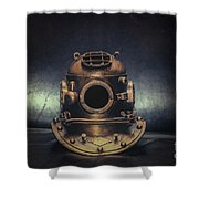 Bronze 4 Bolt Helmet Shower Curtain