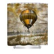 Bronze Beach Ballooning Shower Curtain