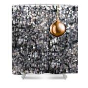 Bronze Christmas  Shower Curtain