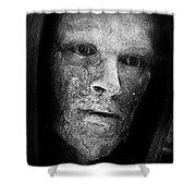 Bronze Face Shower Curtain