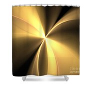 Bronze Gold Wings Shower Curtain