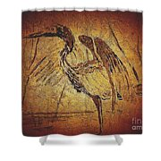 Bronze Heron Shower Curtain