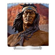 Bronze Native Shower Curtain