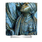 Bronze Onieda Indian Girl Shower Curtain