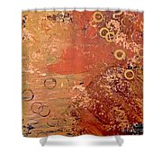 Bronze Oxidation Shower Curtain