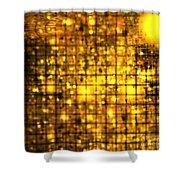 Bronze Solar Cubes Shower Curtain
