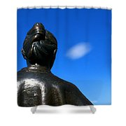Bronze With Cloud Shower Curtain