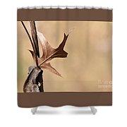 Bronzed Oak Leaf Horizontal Shower Curtain