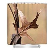 Bronzed Oak Leaf Vertical Shower Curtain