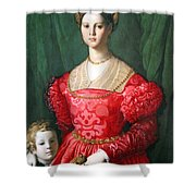 Bronzino's A Young Woman And Her Little Boy Shower Curtain