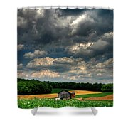 Brooding Sky Shower Curtain by Lois Bryan