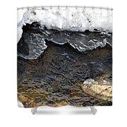 Brook Ice Macro Shower Curtain