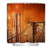 Brooklyn Bokehs Shower Curtain