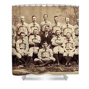 Brooklyn Bridegrooms Baseball Team Shower Curtain
