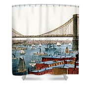 Brooklyn Bridge, 1872 Shower Curtain