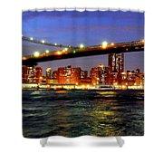 Brooklyn Bridge At Night Shower Curtain