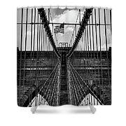 Brooklyn Bridge Bw Shower Curtain
