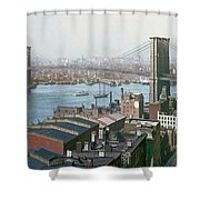 Brooklyn Bridge Circa 1904 Shower Curtain
