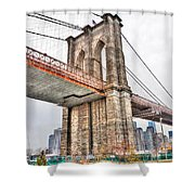 Brooklyn Bridge Close Up Shower Curtain