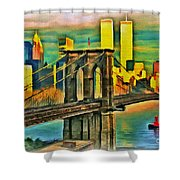 Brooklyn Bridge Collection - 1 Shower Curtain