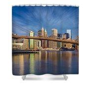 Brooklyn Bridge From Dumbo Shower Curtain