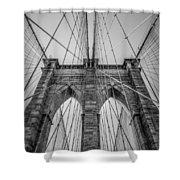 Brooklyn Bridge Goes Up Shower Curtain