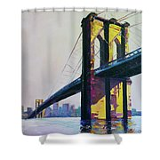 Brooklyn Bridge, N Y  Shower Curtain