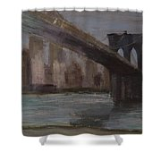 Brooklyn Bridge Painting Shower Curtain