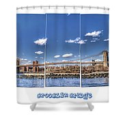 Brooklyn Bridge Pano  Shower Curtain