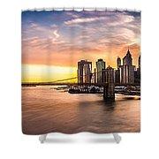 Brooklyn Bridge Panorama Shower Curtain
