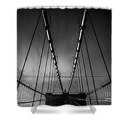 Brooklyn Bridge - Spider's Web Shower Curtain