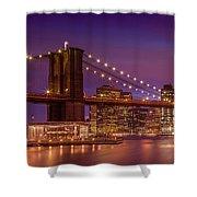 Brooklyn Bridge Sunset - Panorama Shower Curtain