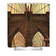 Brooklyn Bridge Sunset Shower Curtain