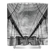 Brooklyn  Bridge Suspension Cables Shower Curtain