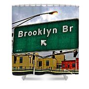 Brooklyn Bridge Thisaway Shower Curtain
