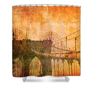 Brooklyn Bridge Vintage Shower Curtain
