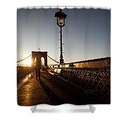 Brooklyn Brige Sunset Shower Curtain
