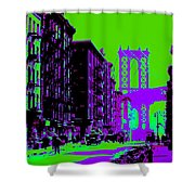 Brooklyn Green Shower Curtain