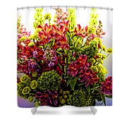 Brooklyn Sidewalk Flower Sale Shower Curtain