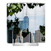 Brooklyn View Of One World Trade Center  Shower Curtain